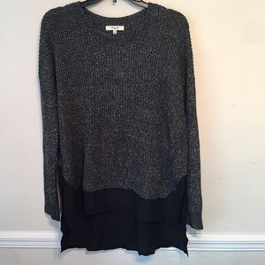 Madewell Marled Mixed Media Tunic Sweater